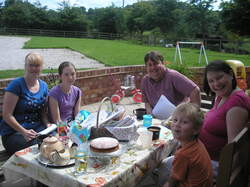 tea & cake after the first hen party