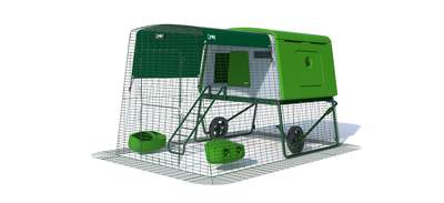 Eglu Cube Mk2 with 2m Run and Wheels Package - Leaf Green