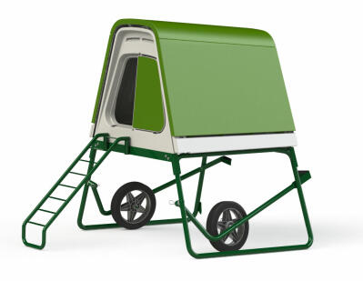Eglu Go UP Chicken Coop with Wheels and Accessories - Leaf Green