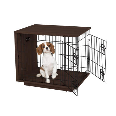 Fido Studio 24 Dog Crate Walnut