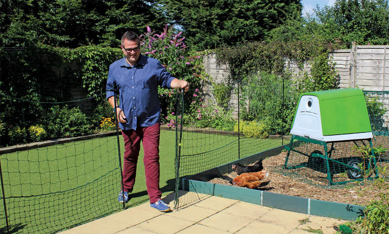 Omlet Chicken Fencing with easy to use gate